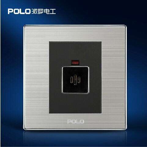 Free Shipping, POLO Luxury Wall Light Switch Panel, Sound & Light Control Delay Switch, Champagne/Black, 10A, 110~250V, 220V voice control switch two wire system wall mount sound activated and light snesor switch with 30s time delay ac 110 250v
