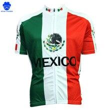Nova camisa Dos Homens Camisa de Ciclismo Bicicleta Confortável México  bandeira Listras Estrangeiro SportsWear ciclismo roupas T.. b52803a8f5bd3