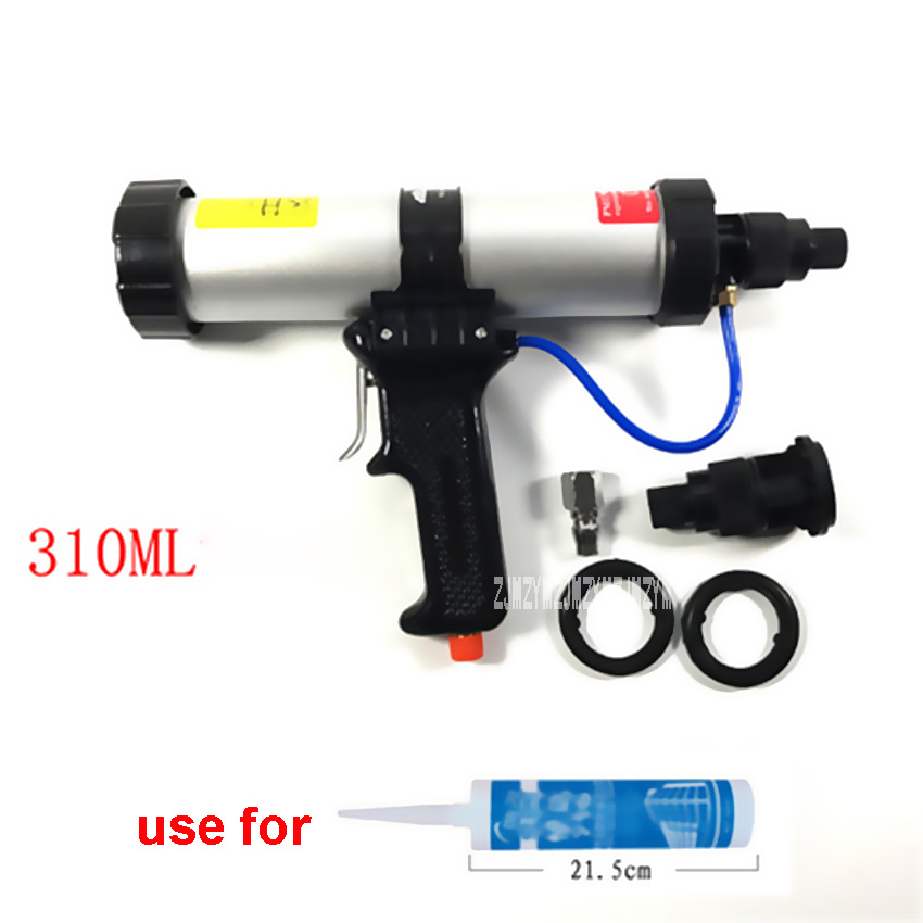 New Hot 310ML Cartridge Type Pneumatic Glue Gun 21.5-22.5CM 6 Bar Working Pressure Glass Glue Gun Caulking Gun + Control Valve