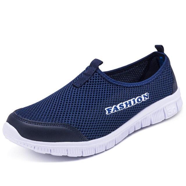 4d92c863 Nuevos zapatos casuales de hombre, Zapatillas de malla transpirables de  verano para hombres zapatos planos