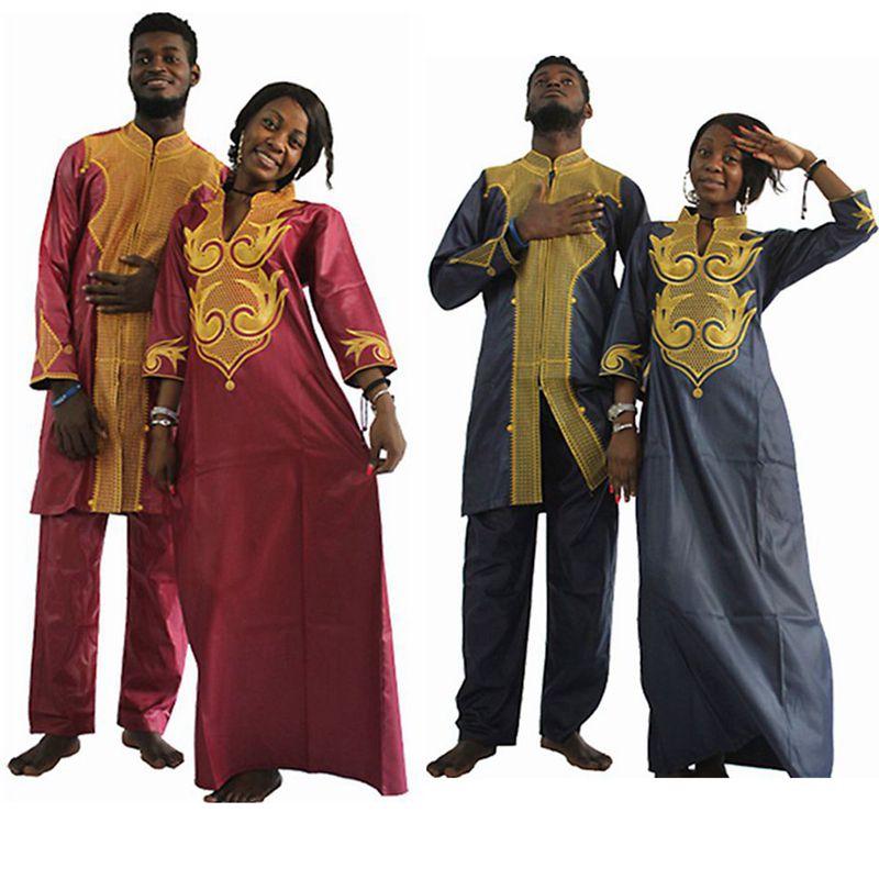 Dashiki Afrikaanse katoenen jurken voor mannen en vrouwen vrienden - Traditionele kleding