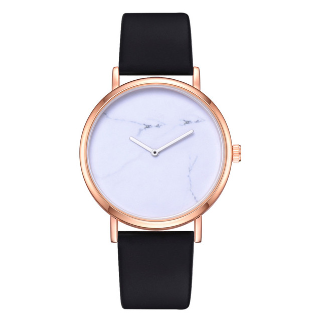 Watch Woman montre femme  Leather Strap Clock Women Watches  Solid  Fashion Casual Ladies Wristwatch reloj mujer 19JAN8