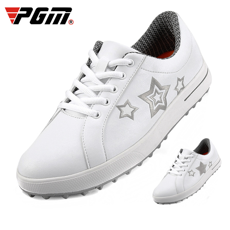 Pgm Women Star Print Golf Shoes Ultra-Light Breathable White Sneakers Female Non-Slip Wear-Resistant Golf Sneakers  D0770Pgm Women Star Print Golf Shoes Ultra-Light Breathable White Sneakers Female Non-Slip Wear-Resistant Golf Sneakers  D0770