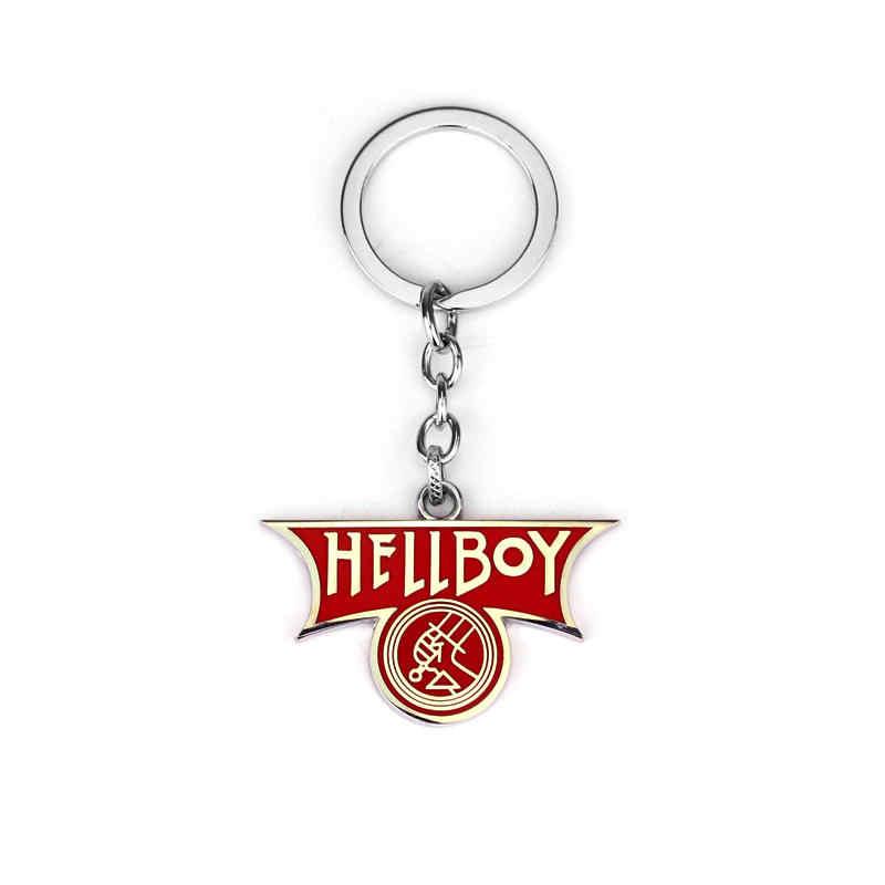 Bijoux de film Mezco Hellboy II l'armée d'or B.P.R.D. Logo porte-clés métal porte-clés jouet porte clef accessoires cadeaux Chaveiro