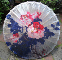 Free shipping dia 84cm chinese oiled paper umbrella blooming peopny waterproof parasol decoration props dance gift umbrella