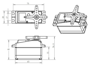 Image 3 - 1 stücke servo 60kg hohe drehmoment DS5160 baja servo Digital Servo für 1/5 Redcat HPI Baja 5B SS RC servo Auto kompatibel SAVOX 0236