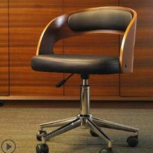 Одноцветное деревянный барный стул для отдыха Творческий высокий стул личности барный стул современного простой спинка высокий стул