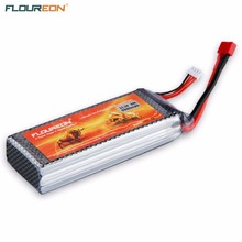 FLOUREON Lipo RC Battery 11.1V 5500mAh 3S 35C (Deans Plug) Rechargeable Battery for RC Helicopter RC Airplane RC Drone