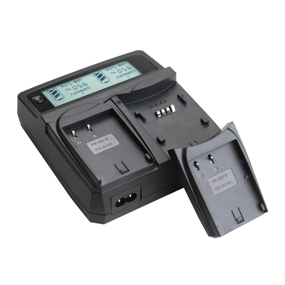 Udoli dmw-blf19 dmw blf19 batteria auto caricatore doppio per panasonic lumix dmc gh3 blf19e gh4 dmc-gh3 gh3gk dmc-gh4 dmcgh3 dmcgh4