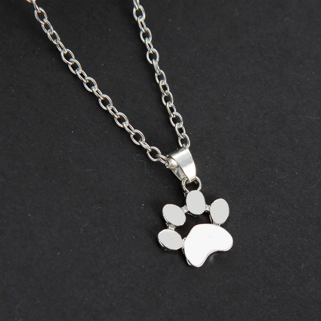 Aliexpress buy fashionable lovely home dog products traces paw fashionable lovely home dog products traces paw chain pendant chains and necklaces necklaces pendants jewelry mozeypictures Choice Image