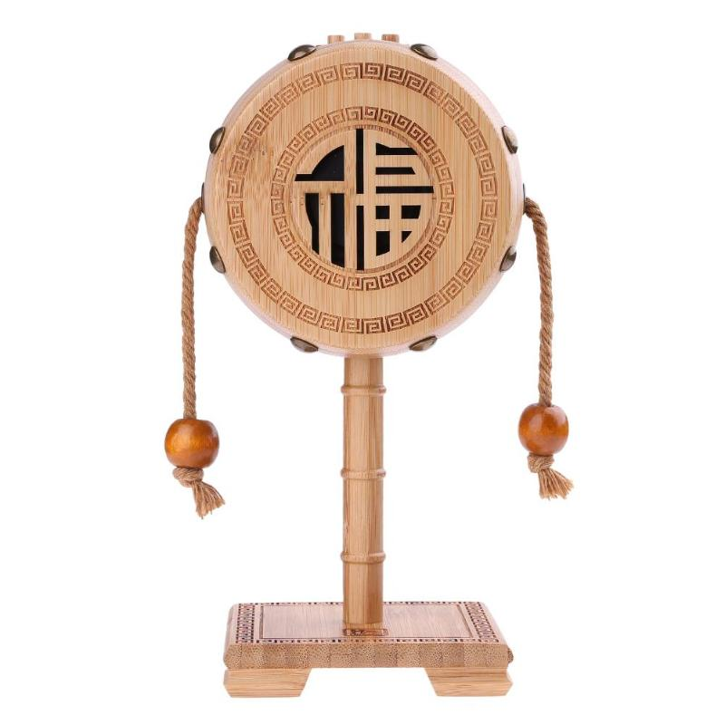 Bluetooth Speaker Bamboo Material Rattle Shape Wireless Sound Box Loudspeaker Stereo Bass HIFI Music Subwoofer with Microphone
