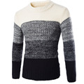 2017 New Men 'S Sweater Foreign Trade Sweater Pullover England Slim Spell Color Men' S Sweaters
