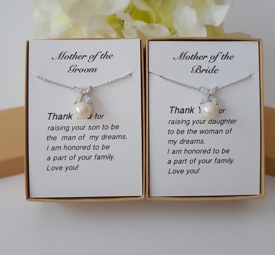 Custom wedding pearl Mother of The Bride earrings Mother of the Groom Necklace, Gift for MOM Mother in law Stepmom jewelry Gift image