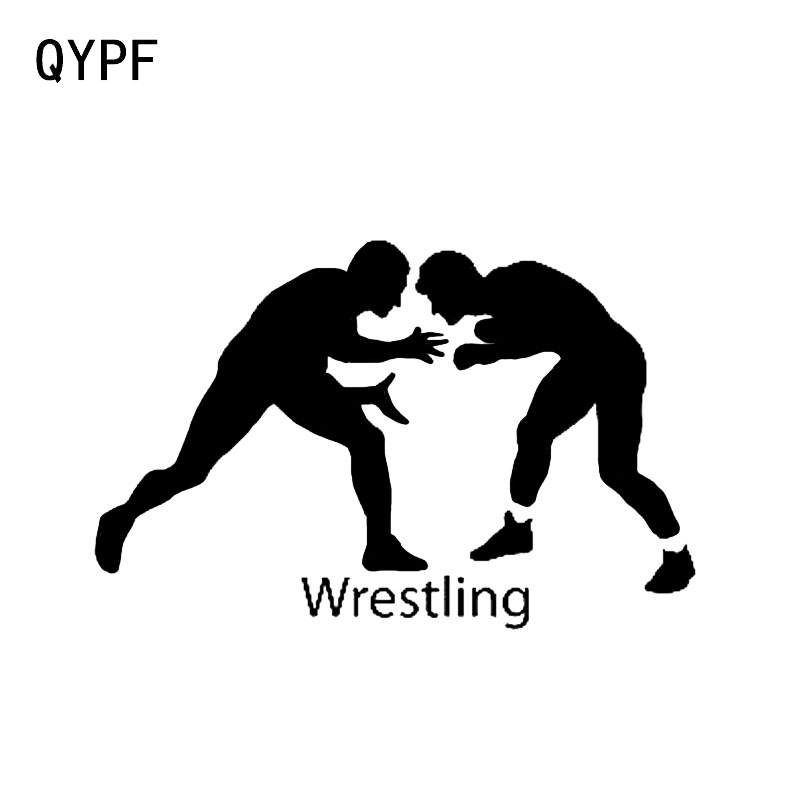 QYPF 14.9*9.7CM Fashion Sportsmen Wrestling Boys Decor Car Styling Stickers Accessories Vinyl C16-0413