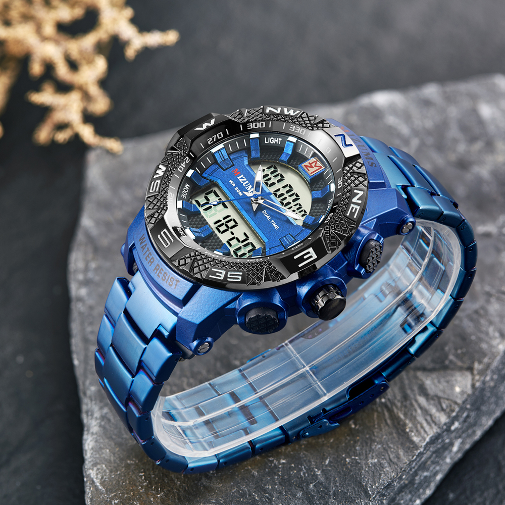 wholesale Military Watches Men Luxury Brand Full Steel Watch Sports Quartz Multi-function LED Waterpoof Gold Wristwatch Relogio Masculino 2019 drop shipping (23)