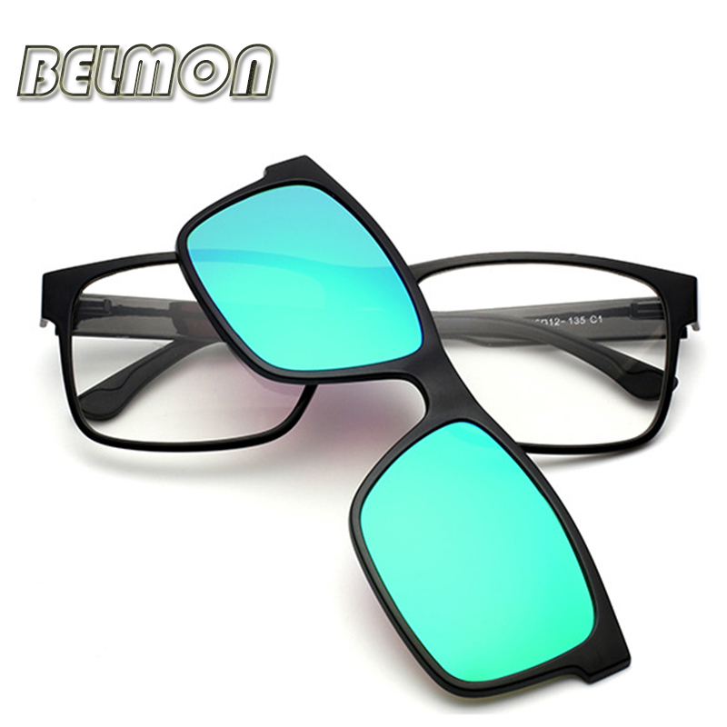 Fashion Optical Eyeglasses Frame Men Women Clip On Magnets Polarized Sungllasses Myopia Glasses Spectacle Frame For Male RS016