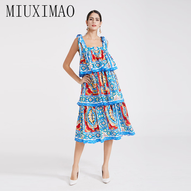 e7891cf19fe Custom Plus Size Dress 2019 Spring floral dress Newest Print Blue and white  porcelain Elegant Slim Long Dress Women vestidos