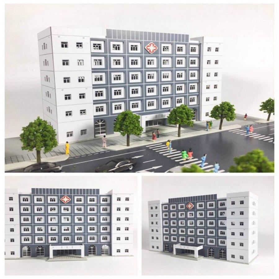 1/150 160 Architectural scene model Anime regular hospital building for  hobby model maker1/150 160 Architectural scene model Anime regular hospital building for  hobby model maker