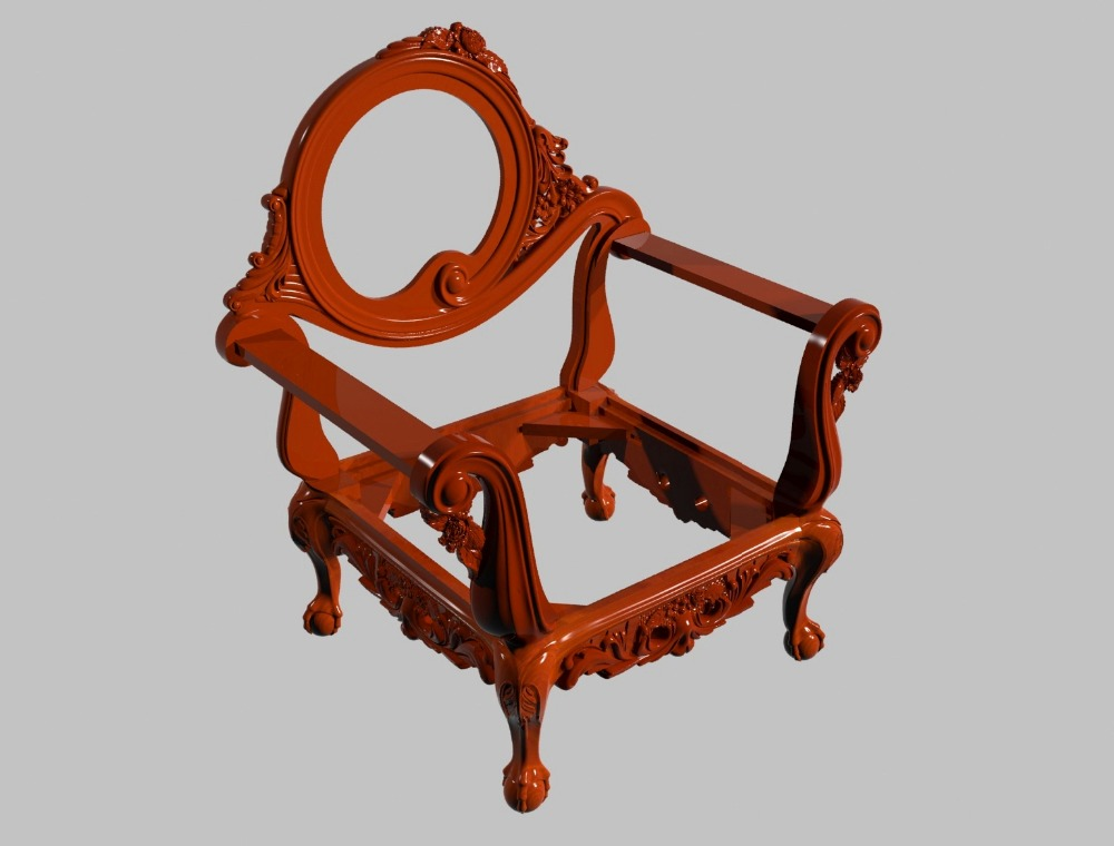 Complete Chair Model 3D STL For Cnc Router Carving Engraving