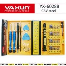 Yaxun 다목적 38 1 정밀 스크류 드라이버 키트 아이폰 4/4 s/5 6 s/6 s 플러스 ipad 삼성에 대한 수리 전화 도구 세트를 엽니 다