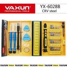Yaxun Kit de tournevis de précision 38 en 1, Kit doutils de réparation pour iPhone 4/4s/5 6s/6S PLUS iPad Samsung