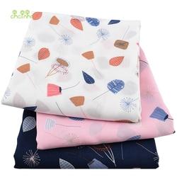 Chainho,Summer Apparel Fabric/Floral Printed Pattern/Imitation Silk/Skirt/Dress/Shirt Material/Half Meter 50x140cm
