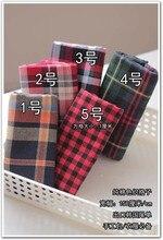 Customized 150cm width red green tartan lattice satin Chiffon silk gauze Cloth Fabric Shirt coat skirt