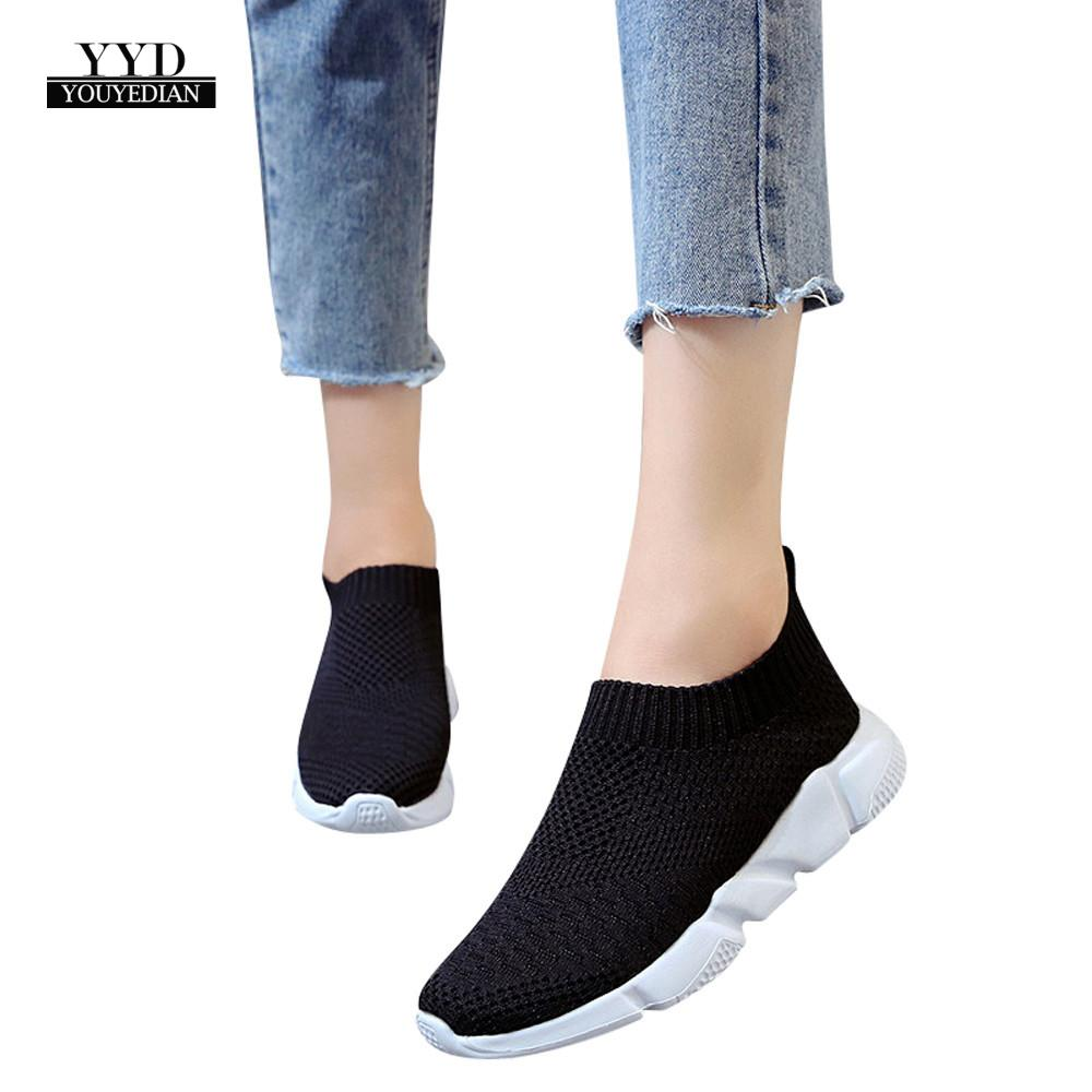 online store 4a8a2 fc260 US $3.62 46% OFF|YOUYEDIAN Shoes Women Outdoor Mesh Casual Slip On  Comfortable Soles Shoes scarpe donna estive traspiranti schoenen mannen  #a35-in ...