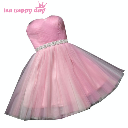2568a1f867b girls cute 8th grade sweet sixteen pink birthday outfits strapless  embellished short graduation dresses for high school H3930