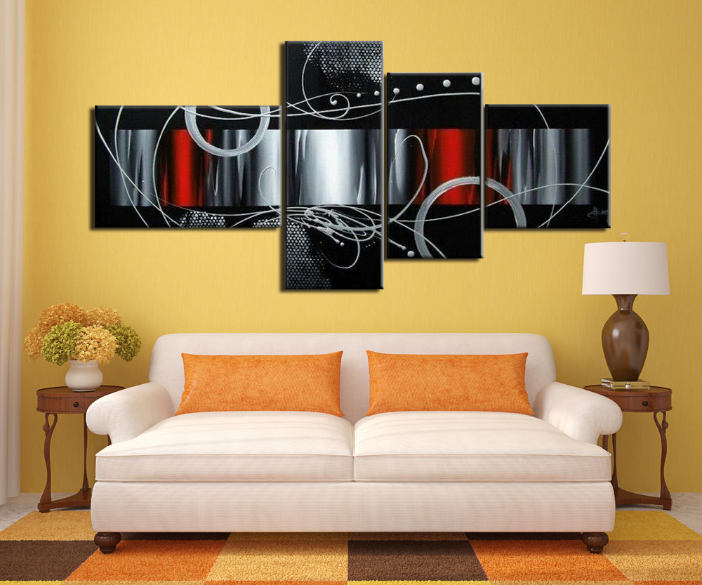 4 make abstract pictures Home wall painting art Handicraft Home ...
