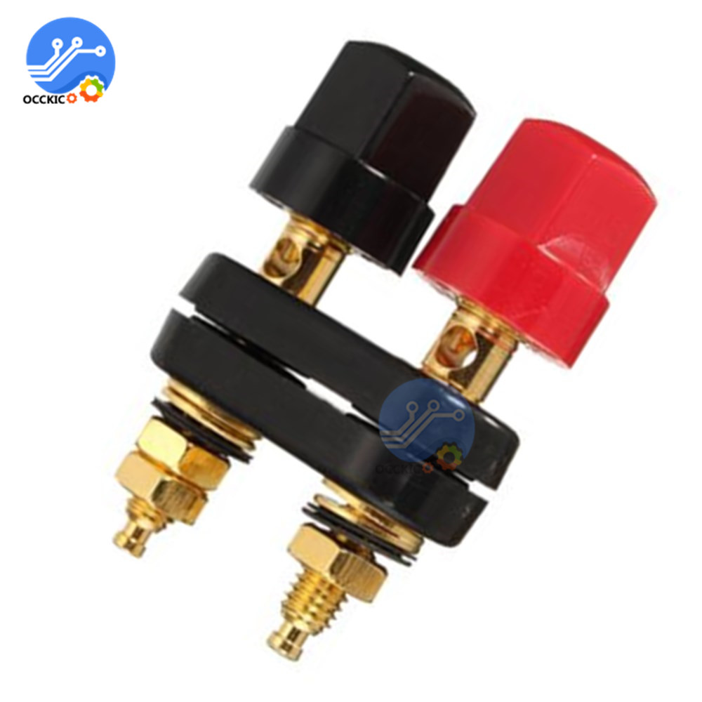 Banana Plugs Connectors Couple Terminals Red Black Connector Amplifier Speaker Terminal Binding Post Banana Plug Speakon Jack