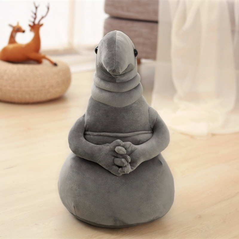 1pc 20cm Waiting statue <font><b>Meme</b></font> Tubby Gray Blob Plush Toy Soft Stuffed monster Doll Homunculus Loxodontus Creative Nice Cute Gift image
