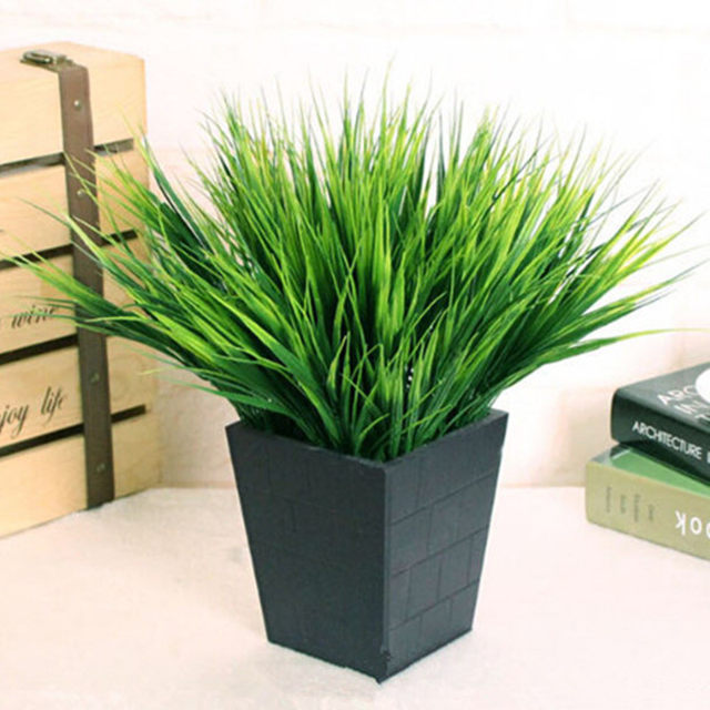 Online shop green artificial plants fake floral plastic silk flowers green artificial plants fake floral plastic silk flowers eucalyptus plant flowers office hotel table decor artificial grass mightylinksfo