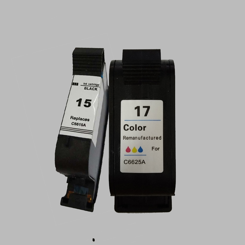 Vilaxh for HP 15 17 compatible Ink Cartridge for hp Deskjet 1120c 825 840 841 842 843 845 PSC 500 OfficeJet Pro 1170c ink in Ink Cartridges from Computer Office