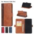 30 stks Leather Flip Case Voor Huawei P20lite Kaartsleuven Wallet Cover Voor Huawei P20pro Telefoon Case Coque Funda