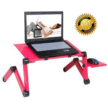 Многофункциональный Эргономичный ноутбука стенд для кровать регулируемая Портативный складной стол ноутбук с коврик для мыши и usb cooliing пок...