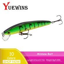 Купить с кэшбэком YUEWINS New Fishing Lure Minnow Bait Artificial 9.5cm 9g Crankbait Wobblers Jerkbait Peche Bass Trolling Pesca Fishing TP1146