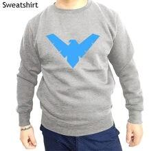 3be55981 cotton style autumn hoodies unisex top Batman Robin Classic Nightwing Symbol  Licensed brand men tops winter