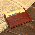 Mini Slim Vintage Genuine Leather Credit Card Holder Italian Leather Cowhide Card Wallet Soft Thin Cow Skin ID Case