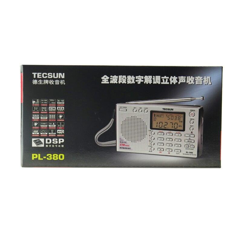 TECSUN PL-380 Radio FM Stereo Longwave SW MW Digital PLL DSP World Receiver Gray