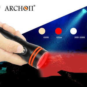Image 3 - Diving Flashlight ARCHON D15VP 100M Diver Diving Video Light White Red * LED Torch 1300 Lumens Underwater Light 18650 Battery