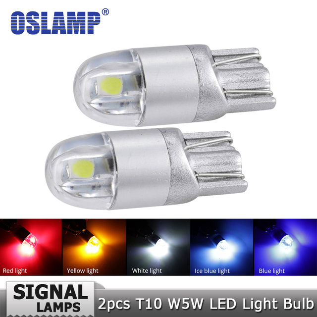 Oslamp T10 W5W 194 Car Led Light Bulbs White Red Bule Yellow DC12v Clearance Break Light Turn Signal Lights Backup Reverse Light