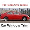 Хит продаж украшение оконной рамы из нержавеющей стали отделка для Honda Civic Yashiro Оконные Планки без центрального столба