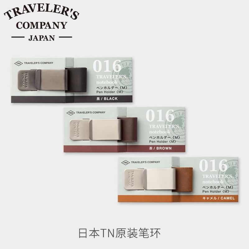 Japan MIDORI TRAVELER'S  travelers notebook accessories pen holder  Pen clip olive green brown black inner core midori midori a promise of angels