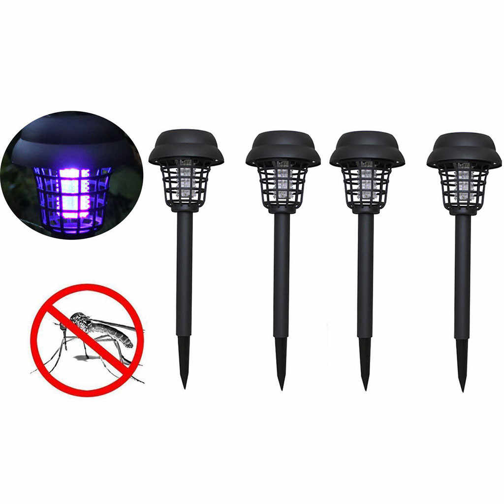 4PC Solar Powered LED Light Mosquito Pest Bug Zapper Insect Killer Lamp Garden Anti-mosquito supplies mosquito killer light