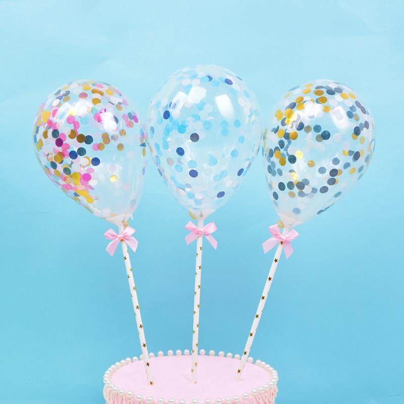Astonishing Shining Balloon Happy Birthday Cake Topper For Cake Gold Glitter Personalised Birthday Cards Arneslily Jamesorg