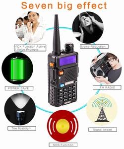 """Image 4 - מקצועי מכשיר קשר 10 ק""""מ UHF VHF 5W UV 5R uv עם פנס VOX FM CB משדר 2 דרך רדיו communicator baofeng uv5r"""