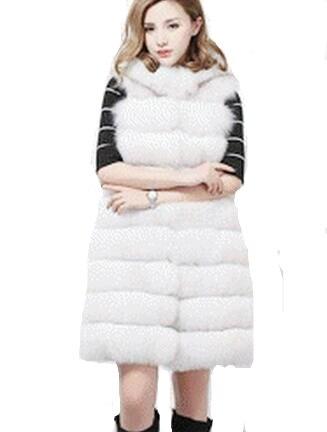 Здесь продается  Lisa Colly Women Faux Fox  Fur Vest Women 2017 Winter New Fashion  Long Hood Fake Fur Coat Women Winter Jacket 8 Color  Одежда и аксессуары