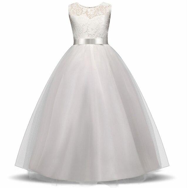 1c65c5bce2a948b Высококачественное нарядное платье с цветочным узором для девочек Одежда  для подружки невесты Платья принцессы белые тюлевые вечерние пла.