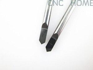 Image 4 - Shank 3.175mm Açısı 90 Tip 0.3mm Freze Araçları için Metal Gravür, Hassas Pürüzsüz CNC Router Oyma Kesme Bıçak Uçları